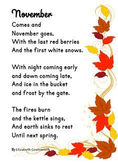 November Poetry FREEBIE