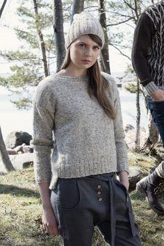 Naisen neulepusero Novita Suomivilla | Novita knits