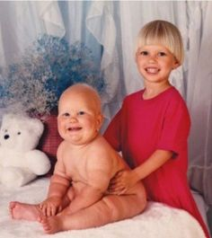 Why is that baby so big? And naked? And who got drunk and cut that boys hair??