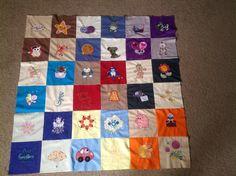 Sample blocks together for quilt