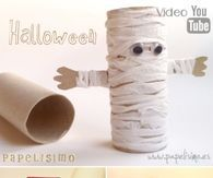 Halloween Mummy From Toilet Paper