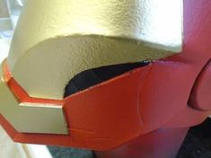 Picture of Gold Paint, Weathering and Clear Coat Spray Paint Cans, Acrylic Spray Paint, Gold Spray Paint, Red Paint, Foam Crafts, Paper Crafts, Iron Man Helmet, Painters Tape, Masking Tape