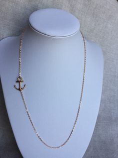 Rose Gold Sideways Anchor Necklace, Rose Gold Jewelry, Anchor Jewelry by Sheilasattic on Etsy https://www.etsy.com/listing/239800948/rose-gold-sideways-anchor-necklace-rose