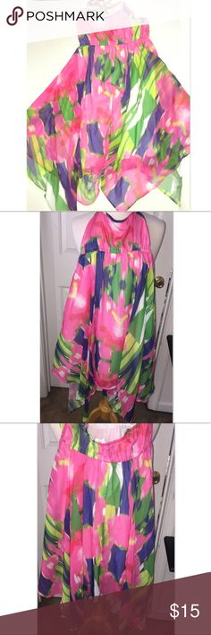 🆕 Pretty Colorful Dress It's time to bring out the sundresses! & this one is great for the pool, beach, or anywhere else you want to hang out this summer. Style this with just about any sandals of your choice & you're good to go! Keep in mind this is a large in girls but I'm a small in women's and it fit me just fine. Great condition Aeropostale Dresses Casual