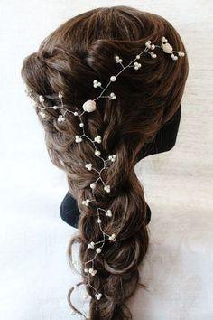 Hair Vine,Bridal Head Piece,Pearl Hair Vine,Crystal Hair vine,Wedding Hair Accessories,Bridal Hair Accessories,Hair Piece,Swarovski Headwear