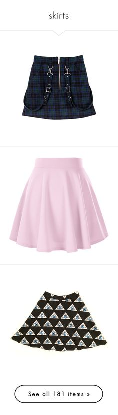 """""""skirts"""" by chemicalfallout249 ❤ liked on Polyvore featuring skirts, blue skirt, bubble skirts, mini skirts, bottoms, flared skirt, short flared skirt, pink circle skirt, pink skater skirt and flare skirt"""