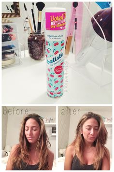 Batiste dry shampoo is THE holy grail. Best shampoo spray I've ever tried, for only $7! Before & after review for day 4 of unwashed hair. Batiste gives your oily roots better volume and thickness than a fresh blowout. Via thebeetique.blogspot.com