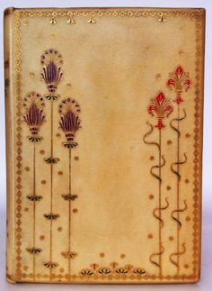 For the love of Books...'Ballads and Sonnets' by Dante Gabriel Rossetti, 1882...painted and gilded vellum binding.