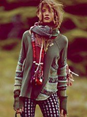 Love this whole outfit: Cecilia Prado Folkloric Patch Scarf
