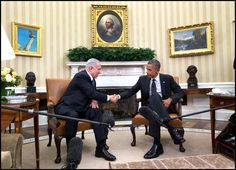 ) President Obama meets with Israeli Prime Minister Benjamin Netanyahu in the Oval Office