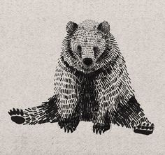 I really like this illustration, I love the detail Art And Illustration, Ink Illustrations, Desenho Tattoo, Bear Art, Art Plastique, Art Inspo, Printmaking, Cool Art, Art Drawings