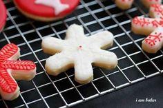 Christmas Cookies {Cookie Recipe}    I   (I Am Baker)  sugar cookie receipe