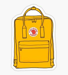 kanken yellow backpack Sticker art hoe laptop stickers Hmu on insta: lanah_iso Macbook Stickers, Phone Stickers, Cool Stickers, Printable Stickers, Preppy Stickers, Cute Laptop Stickers, Image Stickers, Yellow Backpack, Red Bubble Stickers