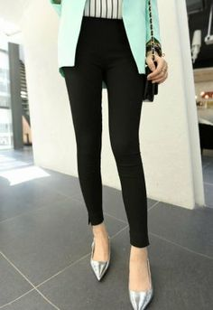 2014 New Item Joker Fashion Popular Fitted Solid Color Long Pants