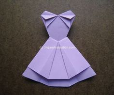 Origami Instruction Trapeze Dress 1 | Origami Instruction.com