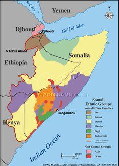 Map of Somali Ethnic Groups