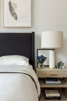 68 ideas bedroom black headboard apartments for 2019 White Bedroom Design, White Bedroom Furniture, Bedroom Black, Home Decor Bedroom, White Bedrooms, Bedroom Ideas, Bedroom Neutral, Bedroom Images, Bedroom Artwork