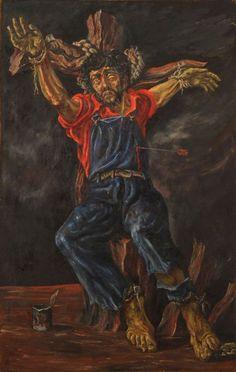 El obrero encadenado (San Sebastián) Oleo - Antonio Berni  (Argentina 1905-1981) Museo Nacional de Bellas Artes de Buenos Aires