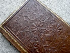 Autumn Harvest Guestbook or Journal in rich brown by Spellbinderie, $125.00