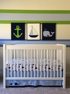 Nautical Nursery Decor Anchor Sailboat By Joanitabonita