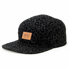 The Vans girls Cheetah black 5 panel hat is just what you need to add fierce 8ea50d01a53