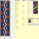 All cards turned together Inkle Weaving Patterns, Weaving Textiles, Loom Patterns, Textile Patterns, Card Weaving, Weaving Art, Loom Weaving, Iris Folding Pattern, Finger Weaving