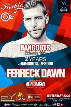TONIGHT!!! 23:00, HANGOUTS -> 2 Years Anniversary with Special Guest DJ. Freek Coppens at Freddo Bar & Lounge. See you there !!!