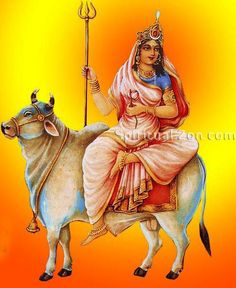 Goddess Shailaputri is worshiped on the first day of Navratri