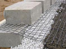 Rock Retaining Wall, Retaining Wall Design, Retaining Wall Blocks, Building A Retaining Wall, Gabion Wall, Landscaping Retaining Walls, Concrete Blocks, Fence Design, Backyard Landscaping