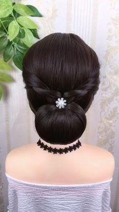 Hairstyle Braid, Bun Hairstyles For Long Hair, Braided Hairstyles Tutorials, Braided Updo, Bride Hairstyles, Beautiful Hairstyles, School Hairstyles, Hair Tutorials, Latest Hairstyles
