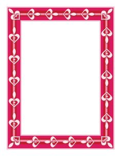 This Valentine's Border includes white hearts against a red and pink background. It is perfect for party flyers, love letters, and even coul. Book Background, Background Designs, Mini Albums, Picture Frame Template, Motif Photo, Valentine Picture, Paper Outline, Pocket Scrapbooking, Pink Themes