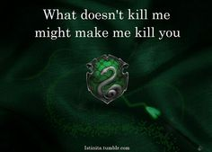 Slytherin Pride. Don't piss us off. It will end badly for you.