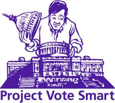 Candidate Information for anyone, anywhere! Project Vote Smart is a non-profit, non-partisan research organization that collects and distributes information on candidates for public office in the US. It covers candidates and elected officials in six basic areas: background information, issue positions, voting records, campaign finances, interest group ratings, and speeches and public statements. This information is distributed via their web site.