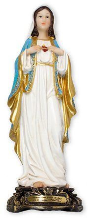 Immaculate Heart of Mary Statue by Florentine 5 Inch. Mary, Victorian, Statue, Dresses, Fashion, Vestidos, Moda, Fashion Styles, Dress