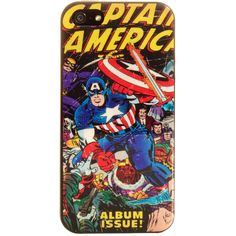 Marvel Comics iPhone 5 Captain America Phone Case | Blue Banana UK featuring polyvore, women's fashion, accessories, tech accessories, phone cases, phones, electronics, cases and marvel comics
