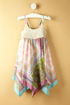 Mimi & Maggie Handkerchief Blossoms Dress