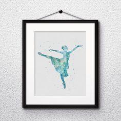 Ballerina watercolor Ballerina art prints Ballerina poster Ballerina wall decor