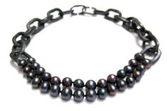 """Nolia Shakti Necklace: The one, 2012 Blue pearls, steel, tin Collection """"Sexuality"""""""