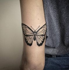 Butterfly Tattoo on Tricep by Rafaella Oliveira