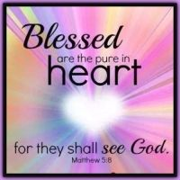 Matthew 5:8  Blessed are the pure in heart: for they shall see God.    KJV