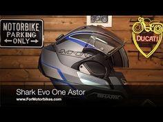Shark Evo One Astor Helmet Shark Motorcycle Helmets, Shark Helmets, Cool Motorcycles, Evo, Ducati, Motorbikes, Iron Man, Tube, Helmet