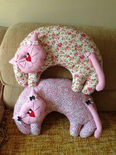 Almofadas de gatinho | Mira Criações | Elo7