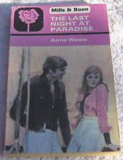ANNE WEALE The Last Night At Paradise  Mills & Boon 1715