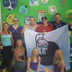ESRC women's team and Senators guys in Riccione 2013. #squash #racketball