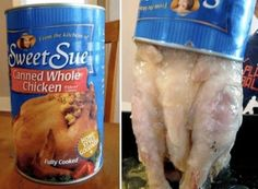 Canned Whole Chicken | 30 Canned Foods You Never KnewExisted (and could completely live without ever knowing they did.)