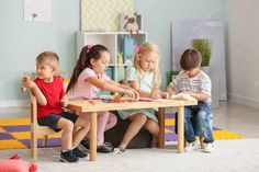 Cute little children playing in kindergarten - Stock Photo , Photos For Sale, Stock Photos, Kindergarten Photos, Little Children, Photo Library, Kids Playing, Cute Kids, Preschool, Childhood