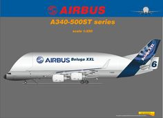 Airbus Super Beluga A340-500ST Combo Aviation Design - Modified Airliner Photos
