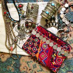 ☯☮ॐ American Hippie Bohemian Style ~ Gypsy Gypsy accessories Hippie Bohemian, Boho Gypsy, Bohemian Jewelry, Funky Jewelry, Tribal Jewelry, Turquoise Jewelry, Gypsy Style, Hippie Style, Bohemian Style