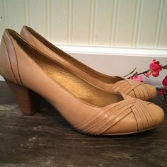 Anthropologie Brand Seychelles Leather Pumps. These classic and stylish pumps are comfortable and pretty. They can easily go from office to casual a dress or jeans. They are simple yet have lots of style yet are a closet staple. EUC. Anthropologie Shoes Heels