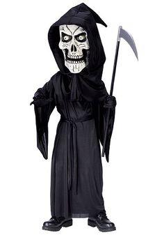 Kids Bobble Eyes Reaper Costume